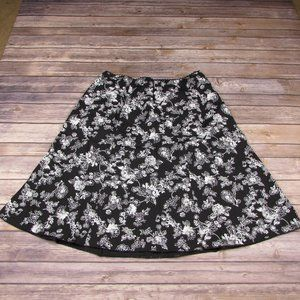 Floral A Line Skirt Size 14 JKLA California Black